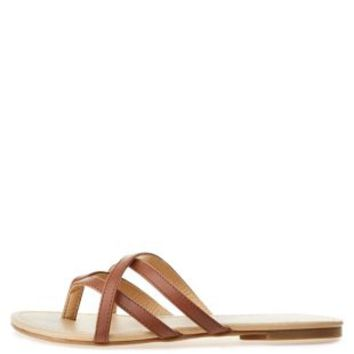 City Classified Crisscross Strappy Thong Sandals
