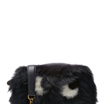 Ghost Shearling Shoulder Bag - Anya Hindmarch | WOMEN | US STYLEBOP.com