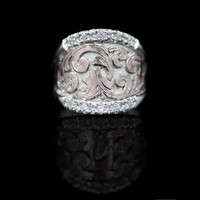 Blush & Sterling Statement Ring - Ring Collection Hyo Silver