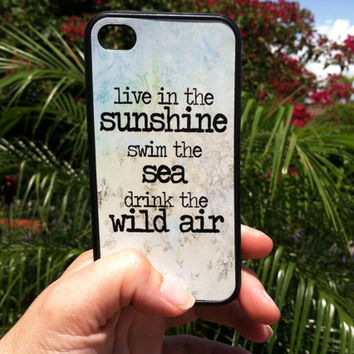 Beach Quote Phone Case  for iPhone 44s or iPhone 5  Live by Arete