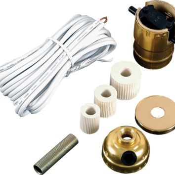 GE Bottle Lamp Kit, White Cord 50961