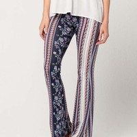 PATRONS OF PEACE Floral Paisley Womens Flare Pants | Pants + Joggers