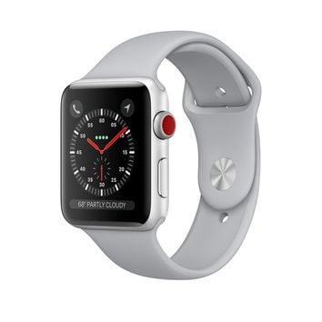 Apple Watch - Silver Aluminum Case with Fog Sport Band