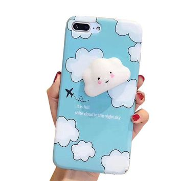 Mobile Phone Case Cover Squishy 3D Animal Cat Panda Seal Soft TPU Gel Case Cover For iPhone 8 Plus 5.5 inch