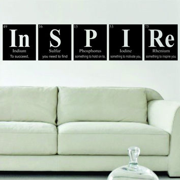 Inspire Periodic Table Science Design Decal Sticker Wall Vinyl Decor Art Home