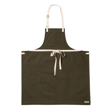 PACIFIC BIB APRON, PINE CANVAS
