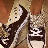Custom Studded Converse All Star High Top Shoes - ANY COLOR! All Sizes!