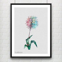 Dandelion Flower Poster, Watercolor Art Print, Kids Room Decor, Minimalist Home or Office Decor, Not Framed, Buy 2 Get 1 Free! [No. 1-10]