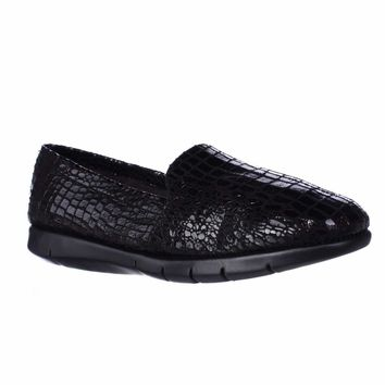 Aerosoles Army Slip-on Comfort Loafers, Black Snake, 10 US