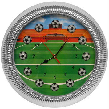 13 Inch Soccer Wall Clock - Quartz Movement