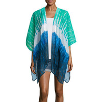 Arizona 3/4 Sleeve Pattern Kimono Juniors - JCPenney
