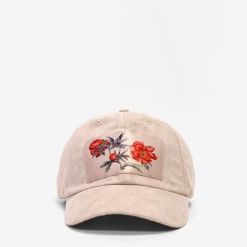 Wilted Peony Polysuede Cap in Deep Cream