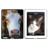 Brown and White Cow Apple iPad Case