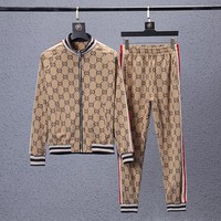 Gucci Men winter fashion printed sports suit
