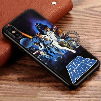 Star Wars Poster Darth Vader Vintage Retro iPhone X 8 7 Plus 6s Cases Samsung Galaxy S8 Plus S7 edge NOTE 8 Covers #iphoneX #SamsungS8