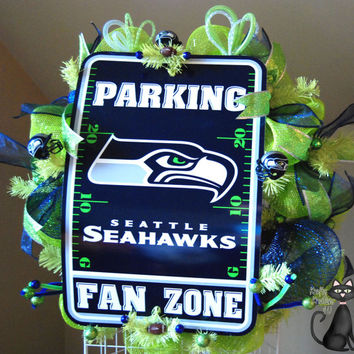 Seattle Seahawks Deco Mesh Wreath by KraftyKreations4You on Etsy