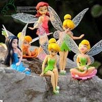 6pcs/Set DIY Miniature Flying Flower Fairy Garden Landscaping Flower Ornaments Succulent Decoration Cartoon Gifts Pokemon
