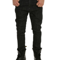 RUDE Raw Black Slouch Tapered Jeans