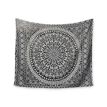 "Nika Martinez ""Mandala Bandana"" Black Abstract Wall Tapestry"