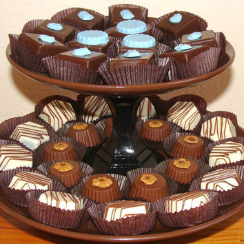 Brown Cupcake stand,candy stand,cupcake platter,wedding desert table,cupcake tower,Cake table,Bridal or baby shower table,Quinceanera