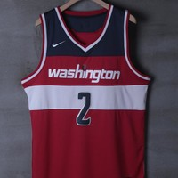 Washington Wizards #2 John Wall Red Swingman Basketball Jersey