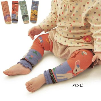 Newest Baby Kids Animal Leg Warmers Boy Girls Legging Tights 100% Cotton Rainbow Socks Infant Toddler Crochet Ruffle Warmers