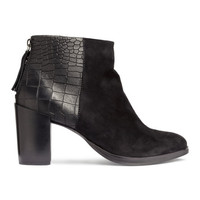 Boots in Suede and Leather - from H&M