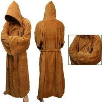 Adult Brown Jedi Bathrobe Cape Cloak Costume