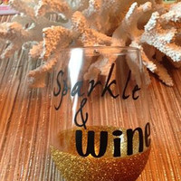 Sparkle & Wine ~ Glitter wine Glass