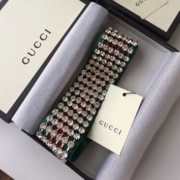 GUCCI Web headband with crystals