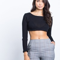 Fall Time Crop Top