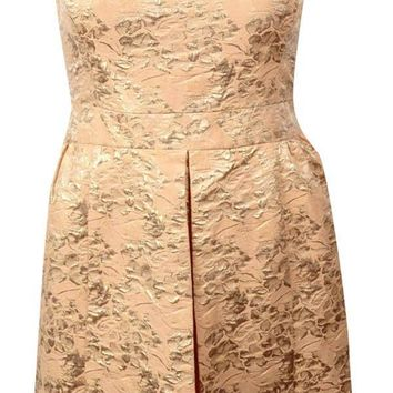 Lauren Ralph Lauren Women's Metallic Brocade A-Line Dress