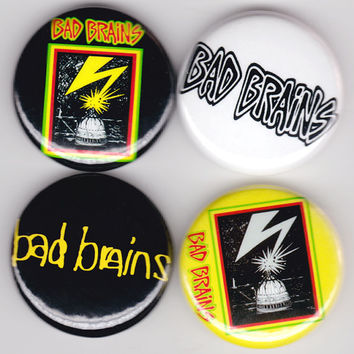 Bad Brains | Hardcore Punk Reggae Buttons Pins Badges Pinback
