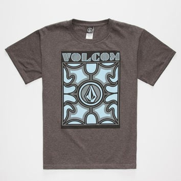 Volcom Tange Boys T-Shirt Charcoal  In Sizes