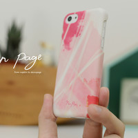 iphone case : abstract pink watercolor
