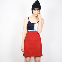 Vintage 90s Dress Tommy Gear Red White Blue Navy Color Block Club Kid Dress Hip Hop Bandage Dress Grunge Dress Mini Sport Dress S Small M