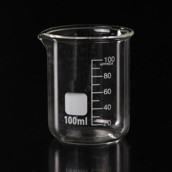 1pc high quality glass beaker laboratory beakers with measuring scale free shipping