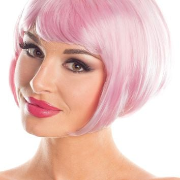 BW090CP Short Bob Wig Candy Pink - Be Wicked