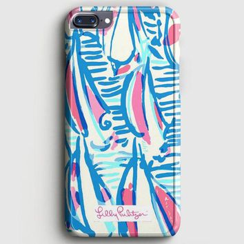 Lilly Pulitzer Resort White Red Right Return Inspired iPhone 8 Plus Case