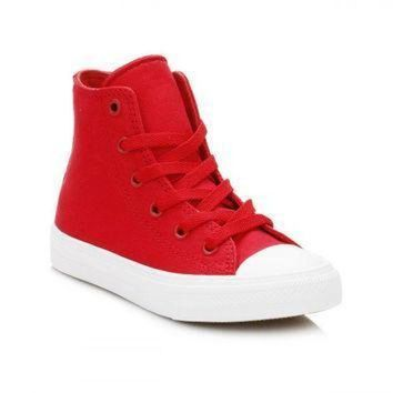 ONETOW converse all star chuck taylor ii junior salsa red white hi trainers