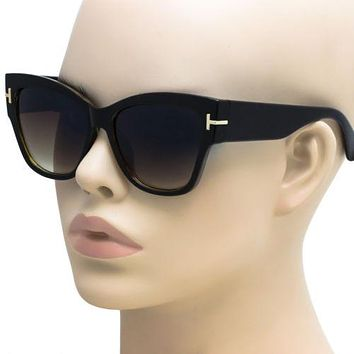 Large Oversized Designer Cat Eye Anoushka Women Sunglasses Retro Thick Frame