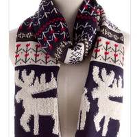 Moose Knit Scarf Winter Chunky Scarf Holiday Gifts Multicolor scarf Neckwarmer Gifts for Dad- By PiYOYO