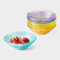 Colored Glass Bowl Set