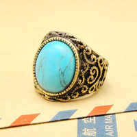 Vintage Style Turquoise Ring 051899D