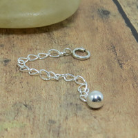 Sterling Silver Necklace Extender, Clip on extender chain, silver necklace lengthener, make your necklace or chain adjustable or longer