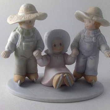 "Vintage Figurine Porcelain Collectible Homco ""Love Lifted Me"" Figurine 10% of the sale will go to Rebuild Recover"