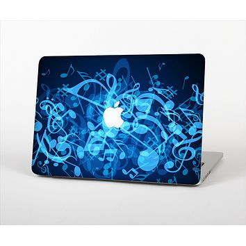 The Glowing Blue Music Notes Skin Set for the Apple MacBook Pro 15""