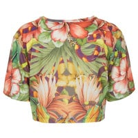 Jungle Crop Tee By Escapology - Escapology - Clothing Brands - Designers - Topshop