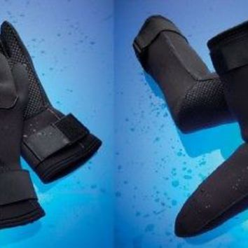 Black Water Resistant Gloves or Socks Neoprene Cold Weather Protection S M L XL