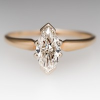 .62 Carat Marquise Diamond Solitaire Engagement Ring 14K Gold